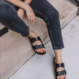 Birkenstock Arizona Rubber Eva Sandals Black Size 7